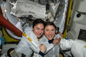 NASA astronauts Jessica Meir and Christina Koch